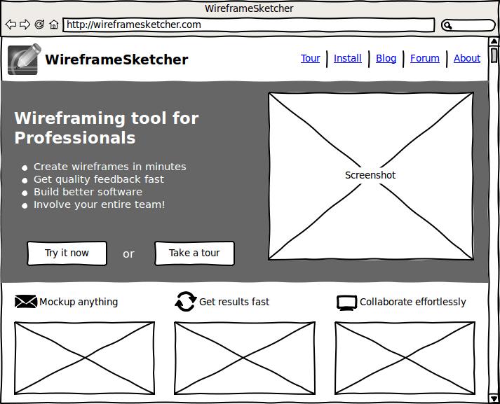 Screenshot Wireframesketcher