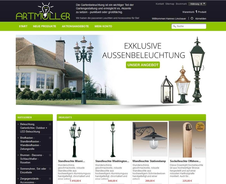 Beispiel Onlineshop mit Prestashop