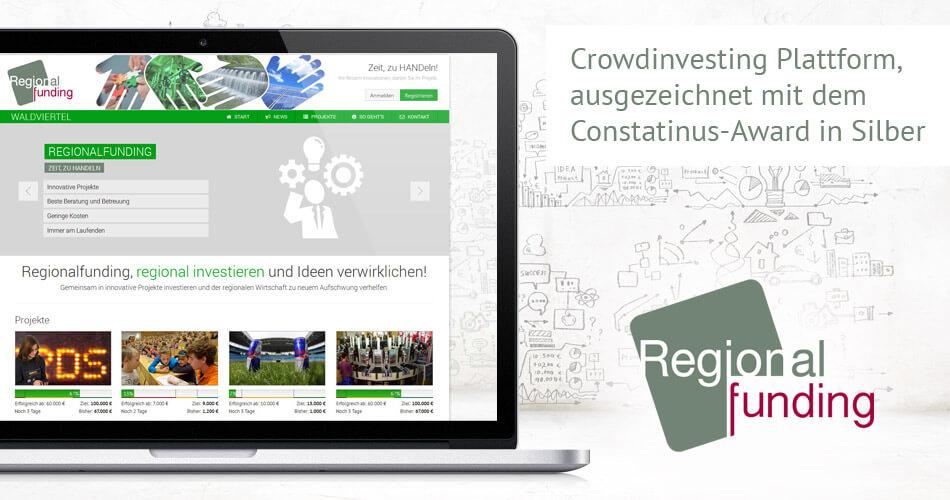 Beispiel Webentwicklung: Crowdinvesting Plattform Regionalfunding