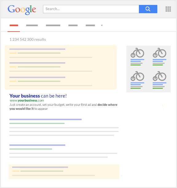 Symbolbild Platzierung Google Anzeigen