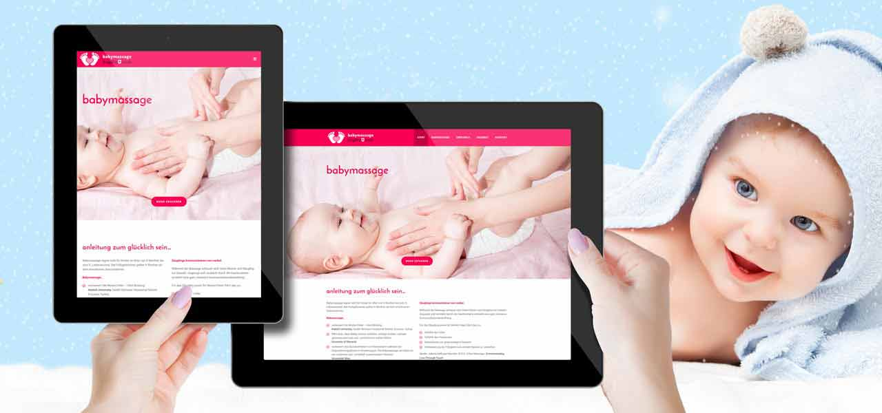 Portfolio Screenshot für Webdesign Babymassage Koch
