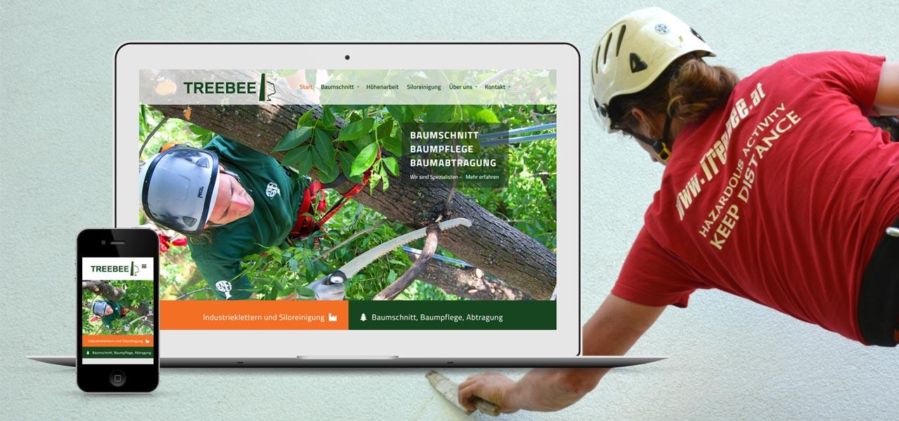 Webdesign für TreeBee