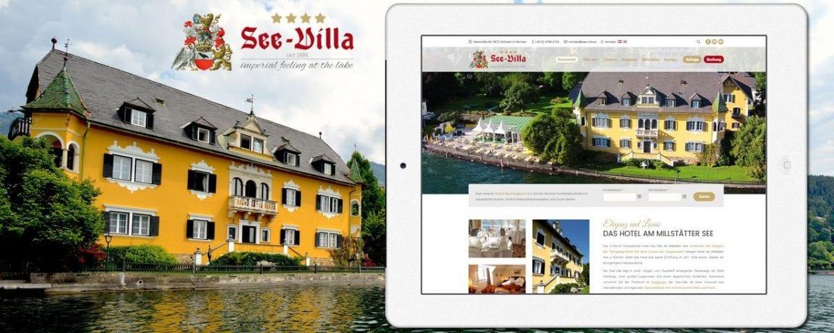 Webdesign für See-Villa
