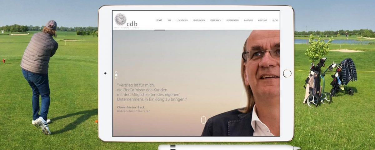 Screenshot Webseite cdb-sales gmbh
