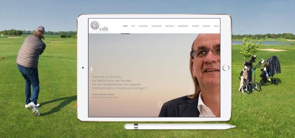 Screenshot Webseite cdb-sales gmbh