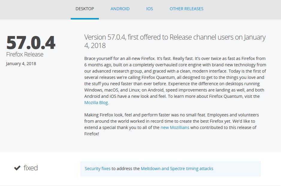 Screenshot Firefox Update 57.0.4