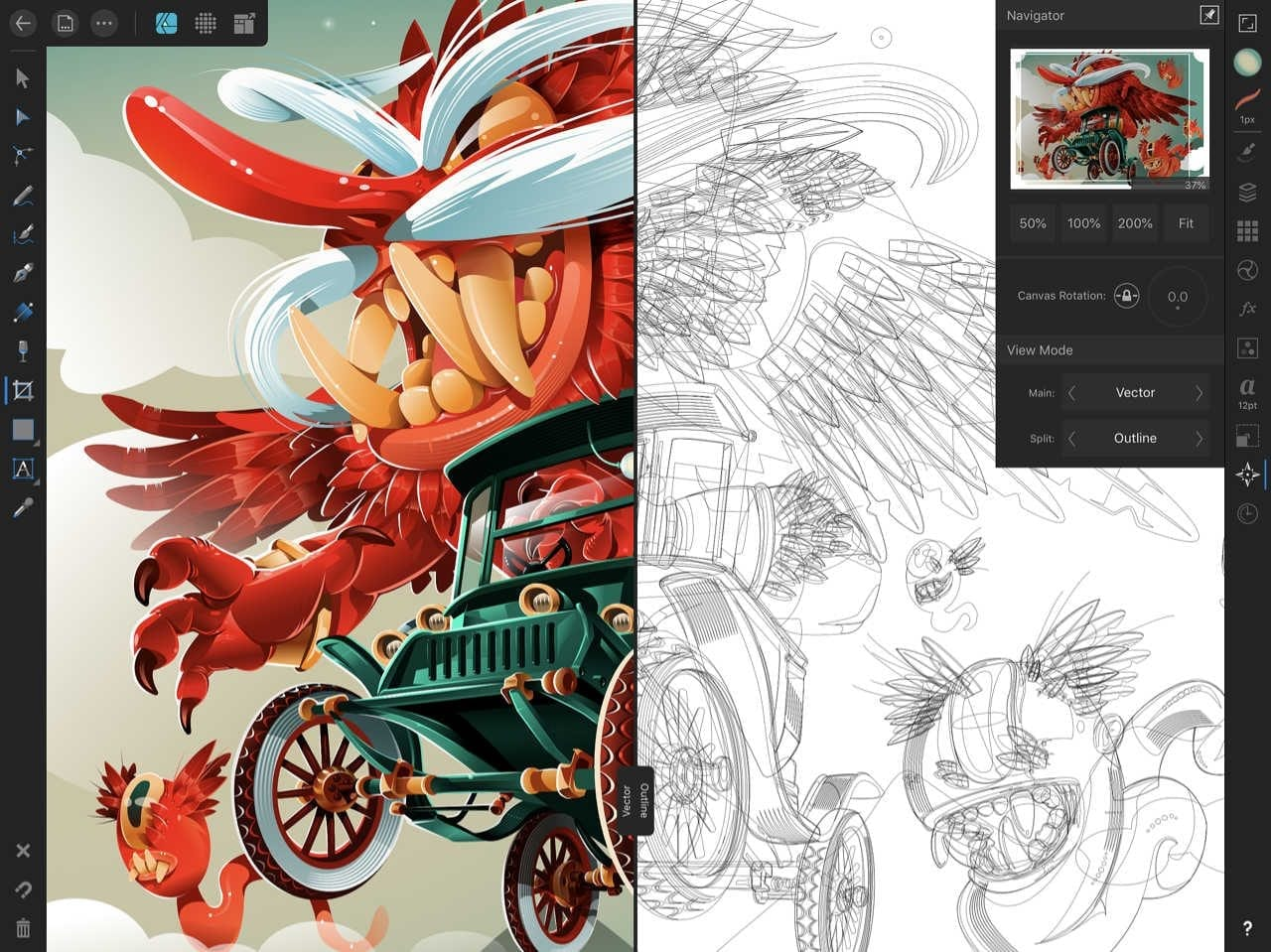 Screenshot Affinity Designer für iPad