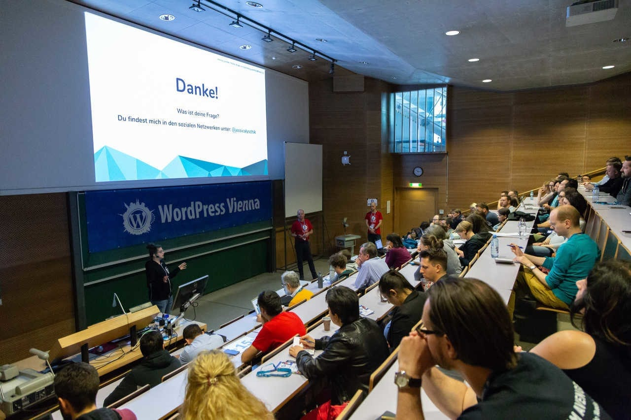 WordCamp Vienna 2019 Vortrag - Foto: Bernhard Herzog