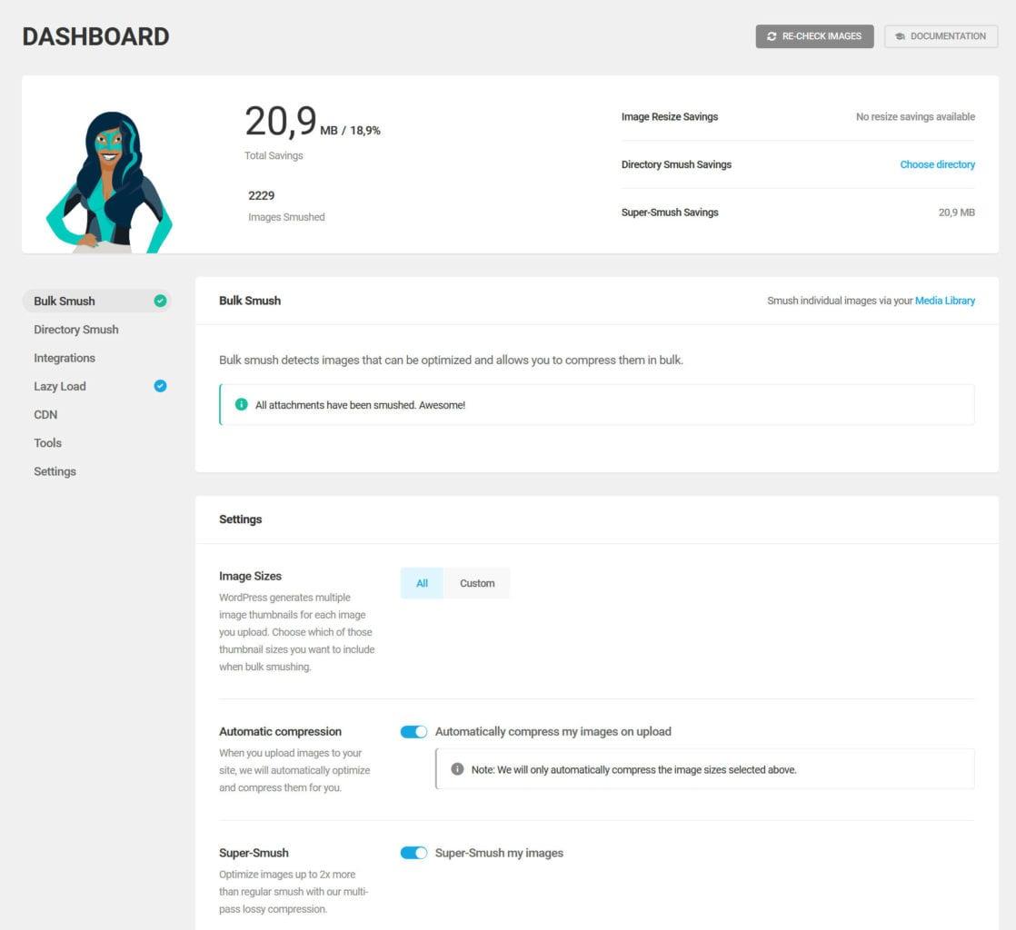 WordPress beschleunigen mit Bildoptimierung und Smush Pro